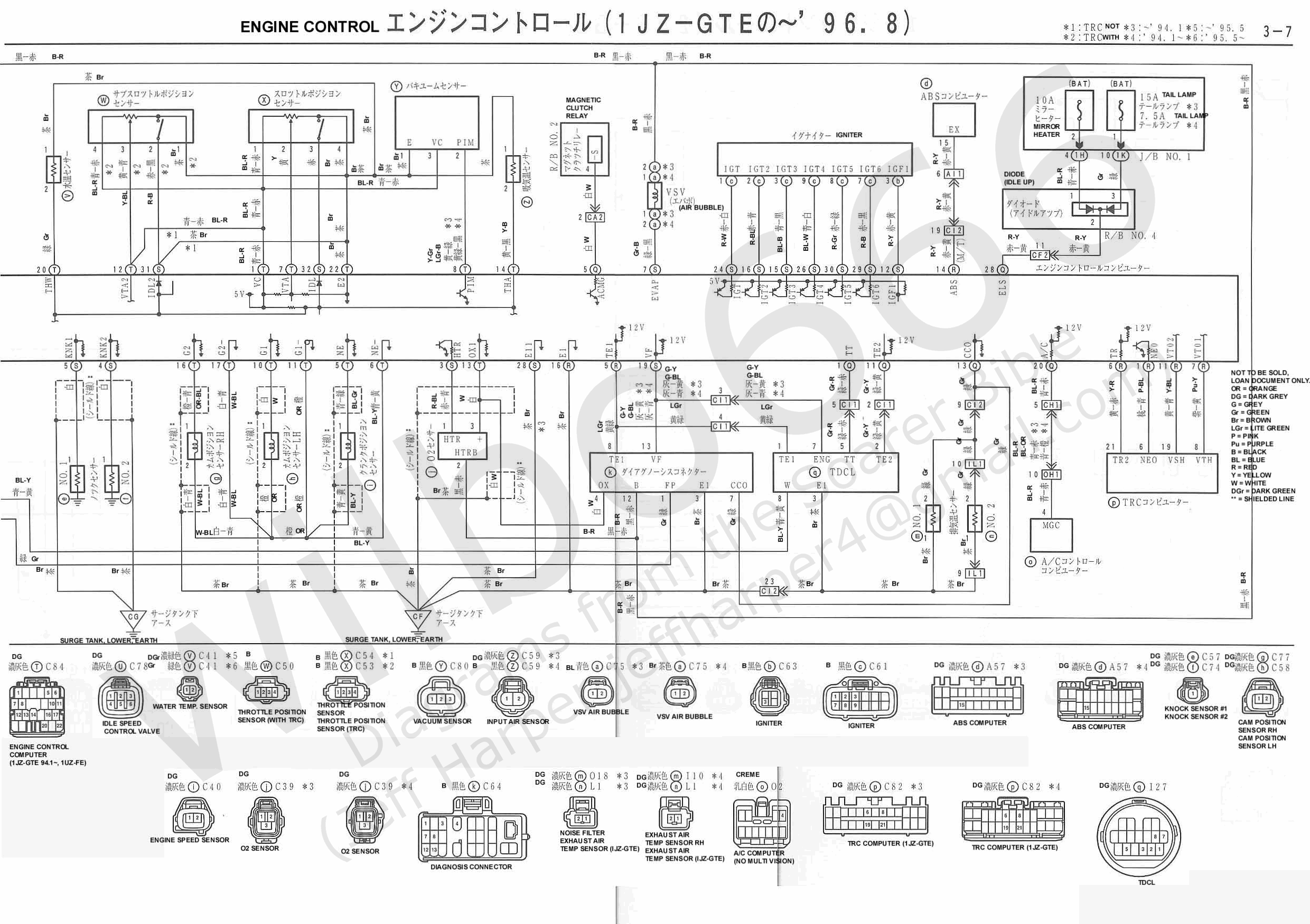 xZZ3x Electrical Wiring Diagram 6737105 3 7 toyota soarer wiring diagram toyota wiring diagrams instruction 1jz engine wiring diagram at eliteediting.co